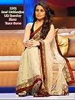 Indian Bollywood Stunning Replica Rani Mukherjee Tasar Bright Net Saree sari