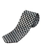 Blacksmith Grey Houndstooth Design Tie