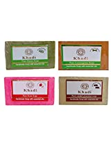 Khadi Soaps 500 Grams (Pack of 4) (SANELER0)