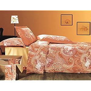 My Room 100% Cotton Printed Bedsheet Set 1611 (Brick, Double)