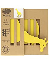 Topozoo Giraffe 3-D Wood Puzzle, Yellow