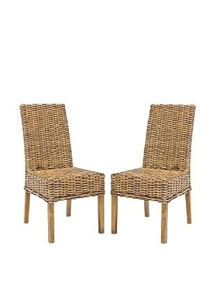 Safavieh Set of 2 Sanibel Side Chairs, Brown