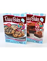 Easy Bake 2 Pk Combo Fudgy Chocolate Chip Cookie, Chocolate Brownie Mixes
