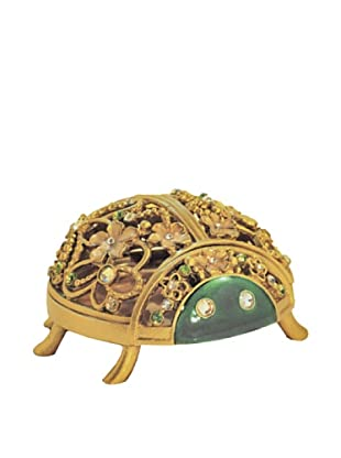 Ashleigh Manor Hand-Painted Collectible Egyptian Scarab Enameled Box