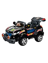 Toyhouse Thunder Jeep 6V Rechargeable Battery Operated Ride on SUV, Black