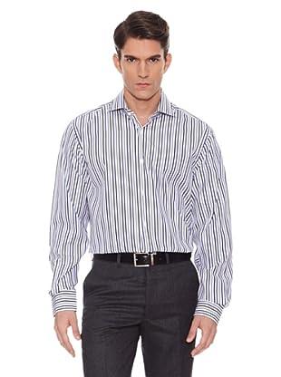 Hackett Camisa Rayas (Blanco / Gris)