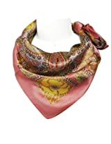 Wrapables Luxurious 100% Charmeuse Silk Square Scarf, Floral Paisley Motif