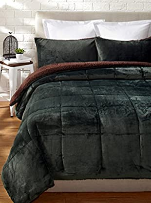 Eddie Bauer Fleece Comforter Set (Pine)