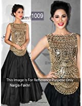 1009- Bollywood replica Nargis style skirt with embroided top Emboided Ethnic dress