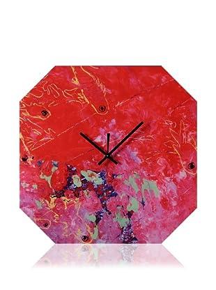 HangTime Designs Koi Fish Octa Wall Clock, Red