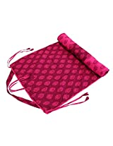 Shalinindia Yogamat For Women And Girls Cotton Printed Reversible Cushioned,YMT02-3008,Magenta,70X30 Inch