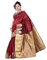 e-VASTRAM Women Dupion Cotton Silk Saree
