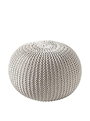 Contemporary Wood Pouf Like