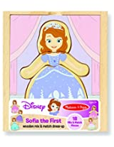 Sofia the First Wooden Mix and Match Dress-Up Play Set