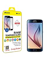 Amzer Kristal Tempered Glass HD Edge2Edge Black Screen Protector for Samsung Galaxy S6 - Retail Packaging - Tempered Glass