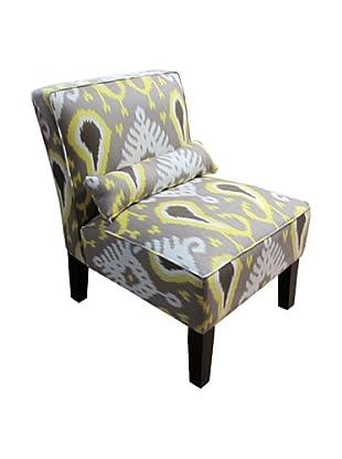 Skyline Armless Chair (Citrine Ikat)
