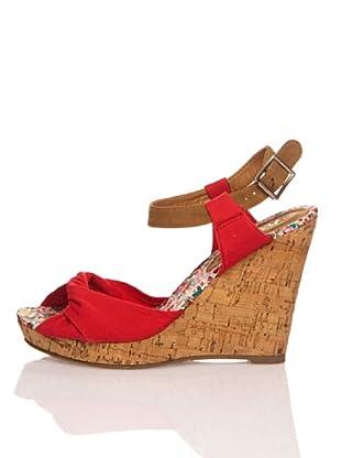 Refresh Sandalias Textil (Rojo)