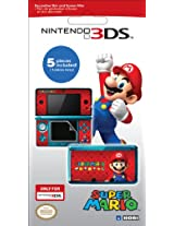 Hori Nintendo 3DS Decorative Skin and Filter - Super Mario Version