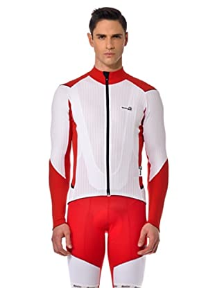 Santini Shirt Thermo (Weiß/Rot)