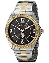 U.S. Polo Assn. Men's USC80025 Two-Tone Analogue Black Dial Expansion Watch