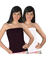 Selfcare Women's Strapless Tube Camisoles (Pack Of 2) (SN0140_Multi_S)
