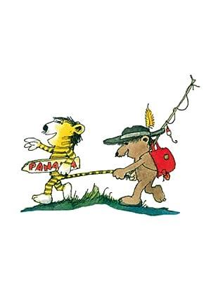 Beiwanda Kids Wandtattoo Janosch Tiger und Bär auf nach Panama