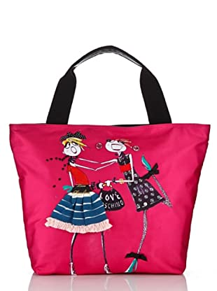 Love Moschino Shopper Canvas Stampa B (Rosa)