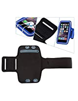 KELWORLD Sporty Gym Jogging Running Arm band Case For iPhone 6 & 4.5 mobile in Blue 1-year waranty