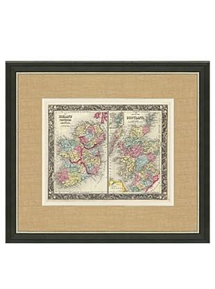 Mitchell-Antique Map of Ireland & Scotland, 1860's-1870's, 21\