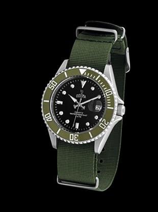 Dogma G7025 - Reloj de Caballero movimiento de quarzo con correa téxtil verde