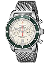 Breitling Men's A2337036-G753 Analog Display Swiss Automatic Silver Watch