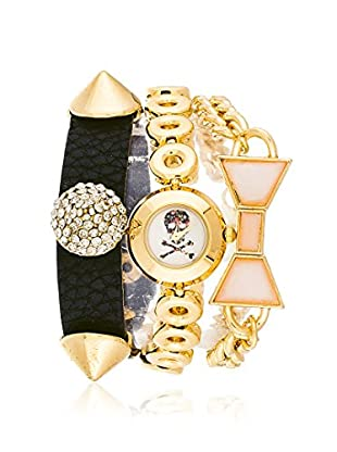 Arm Candy Women's NXS5037SET Gold/White Stainless Steel/Leather Watch