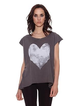 The Hip Tee Camiseta Love You (Negro Lavado)