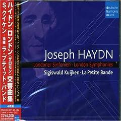 シギスヴァルト・クイケン指揮/ラ・プティット・バンド ハイドン:ロンドン(ザロモン)交響曲集(4枚組)のAmazonの商品頁を開く