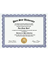 Porn Star Degree: Custom Gag Diploma Doctorate Certificate (Funny Customized Joke Gift Novelty Item)