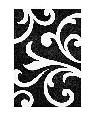 Contemporary Black & White Alfombra Damasko Multicolor