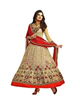 REYA Women Faux Georgette Salwar suit dupatta Dress Material