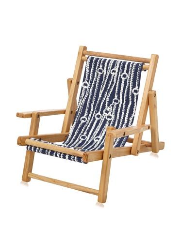 Julie Brown Wooden Reversible Kids Chair (Navy Chain/Harbor)