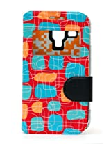 Fonokase Case for Samsung Galaxy S DUOS & DUOS 2 Fancy Flip Type Red Color