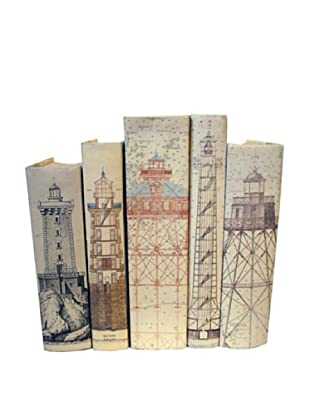 By Its Cover Hand-Rebound Set of 5 Lighthouse Decorative Books, I