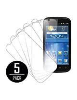 MPERO Collection 5 Pack of Ultra Clear Screen Protectors for ZTE Grand X V970