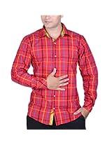 SPEAK Trendy Red Dynamic Shirt