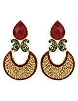 Dilan Jewels PURE Collection Multicolour Antique Golden Jadau Chand Baali Earrings For Women
