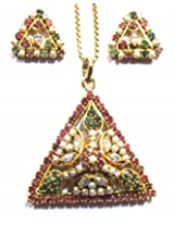 Shingar ksvk jewels Ruby Emerald Jadau Necklace Set For Women (9806-jadau-ps)