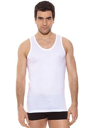 Kappa Camiseta tirantes Caballero Redondo Cuello Redondo 100% Algodón (Blanco)