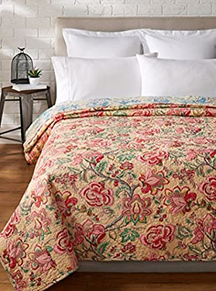 North Rodeo Collection Floral Block Hand Stitched Quilt