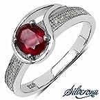 Silverona American Diamond Silver Ring