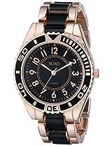 XOXO Women's XO5468 Rose-Gold Tone And Black Bracelet Watch