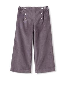 Je suis en CP! Boy's Sailor Pants (Grey Corduroy)