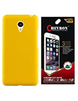 Chevron Back Cover Case for Meizu MX5 with HD Screen Guard (Yellow)